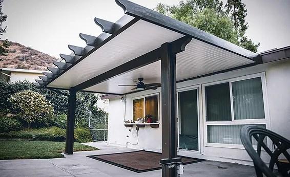 patio cover peak construction