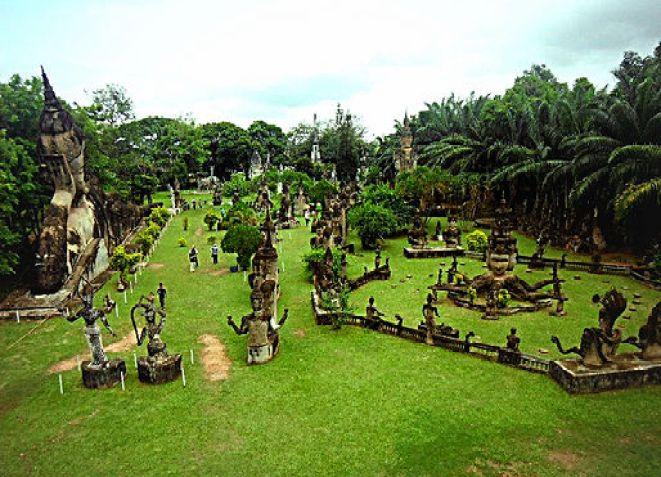 Exploring Buddha Park-  Vientiane, Laos