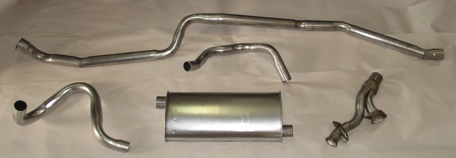 65 66 mustang impostor stainless dual exhaust vintage inlines