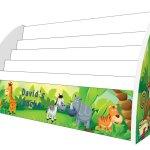 Jungle Animals Childrens Bookcase