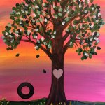 Tree Swing Acrylic Painting On 16x20 Canvas Artfromtheheartcafe