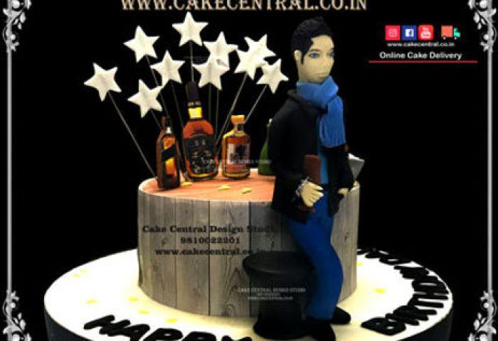 Alcohol Themed Birthday Cakes In Delhi Liquor Beer Bottle Cakes