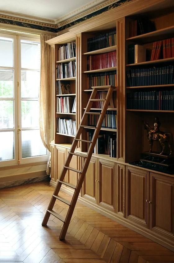 meuble bibliotheque sur mesure trusquin