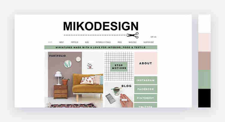 natural website color scheme by Miko Design