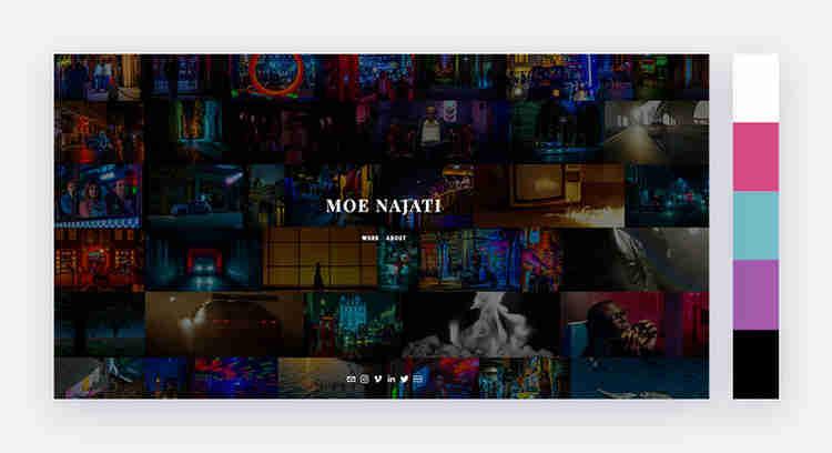 romantic website color scheme