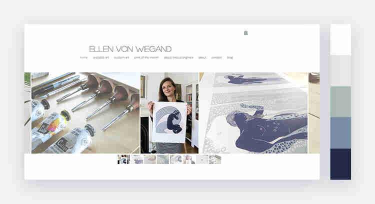 Light and peaceful website color palette