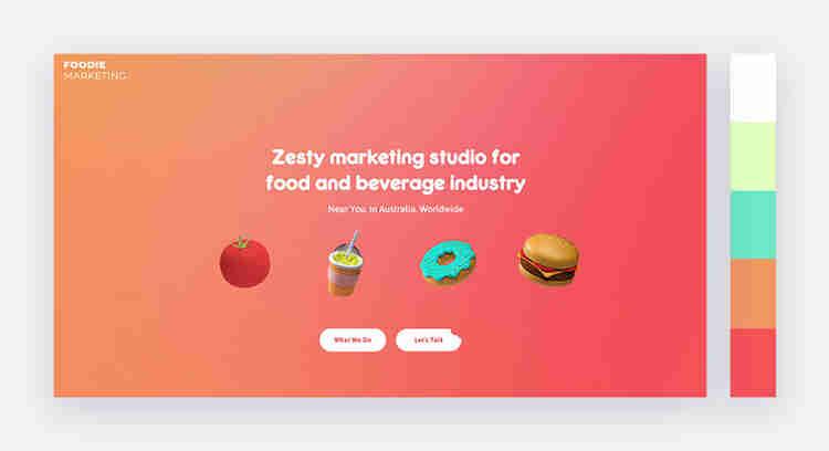 vibrant website color scheme