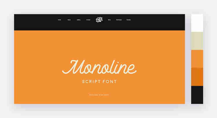 orange website color palette by Stephen Bradbury