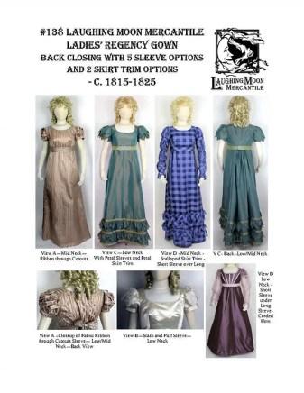 #138 Download - Ladies Back Closing Regency Gown