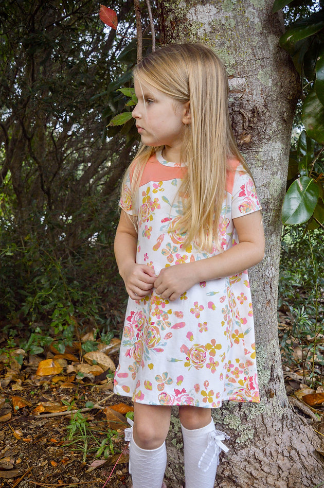 Sunflower Seams | Blaverry, Upton Dress, Trendy, Knit dress, Summer, Spring, Fall, Winter, Back to School, knit, PDF Sewing Pattern, Sewing, Girls