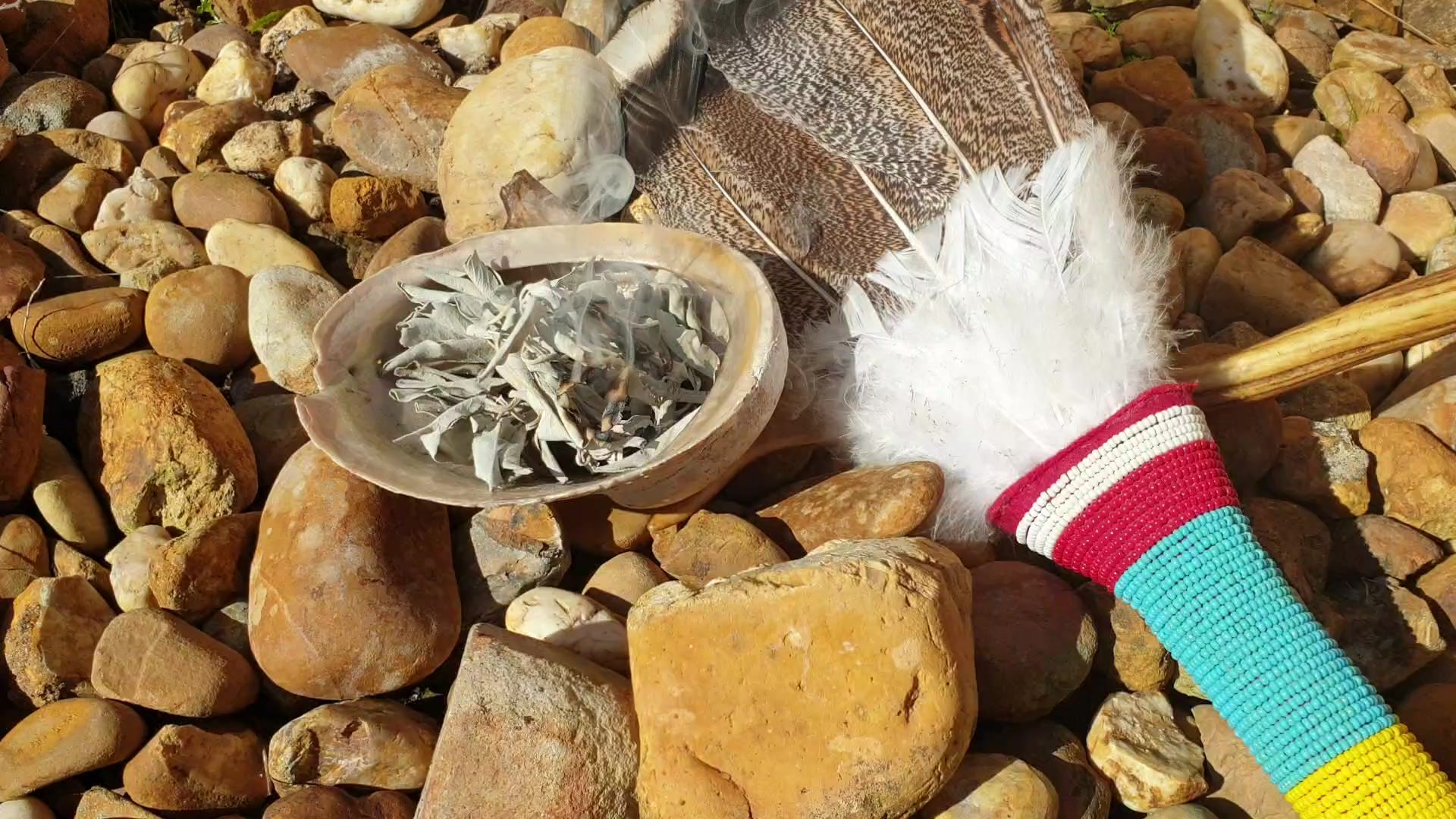Native American Tan Medicine Bag