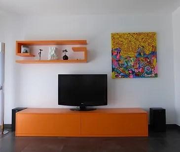 bibliotheque sur mesure meuble tv