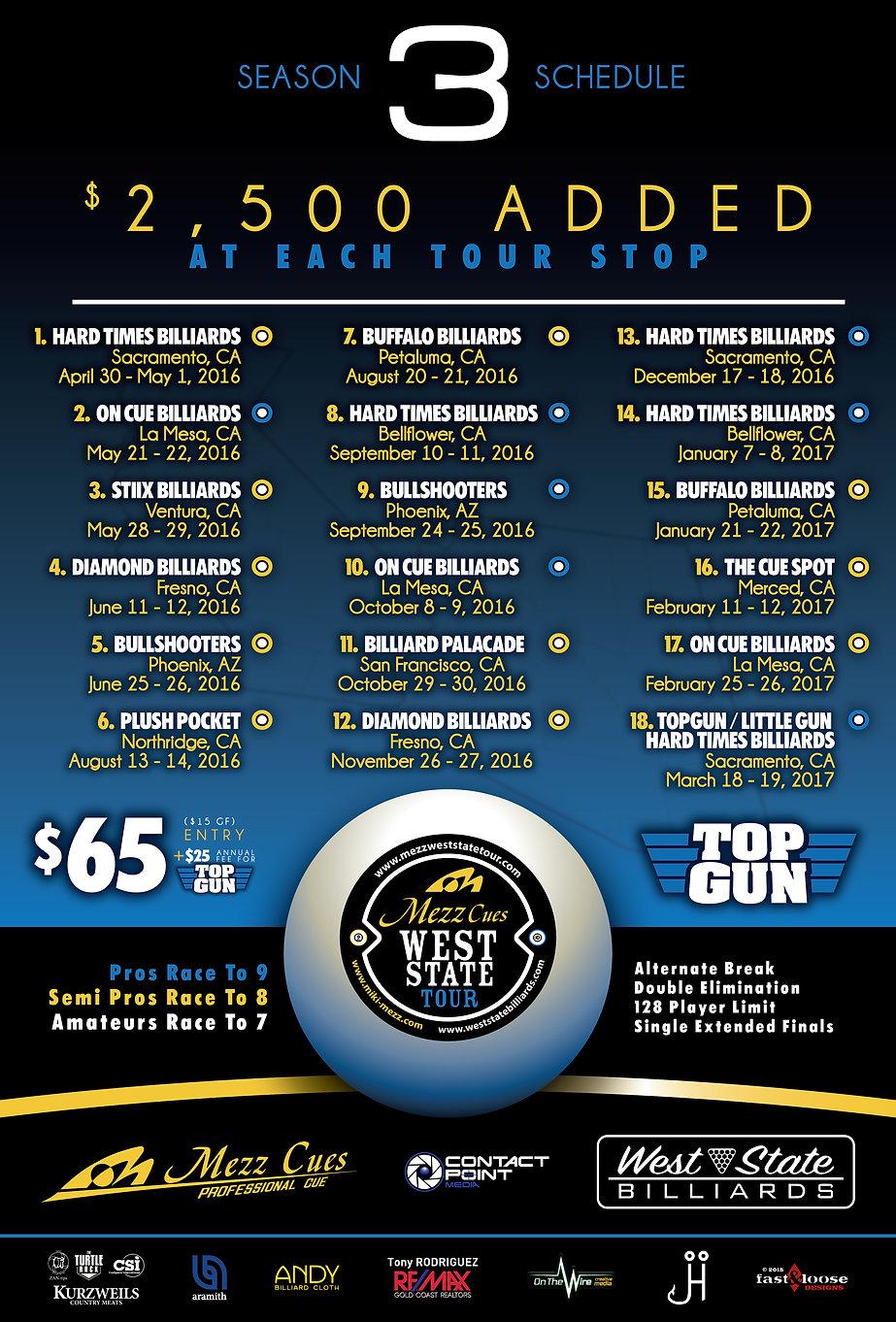 Mezz West State Tour Season 3 Schedule