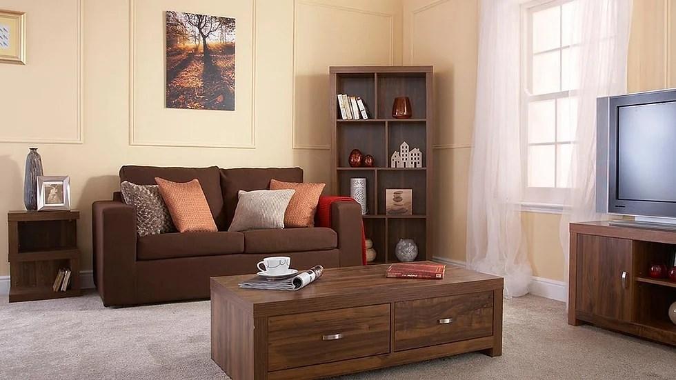 luxury living room furniture set acacia effect coffee table sideboard tv stand ftafurnishing
