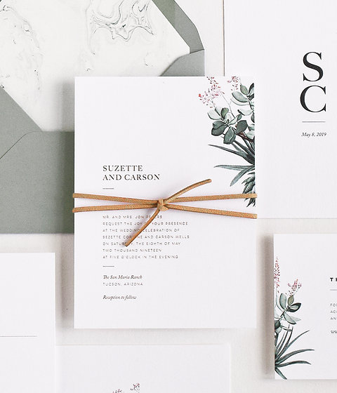 Suzette Wedding Invitation Sample Set
