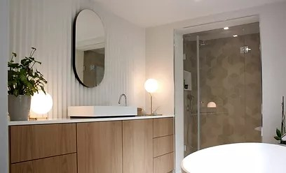 Architecte Interieur Designer Decorateur Renovation   Paldanneels popham design salle de bain carreaux ciment