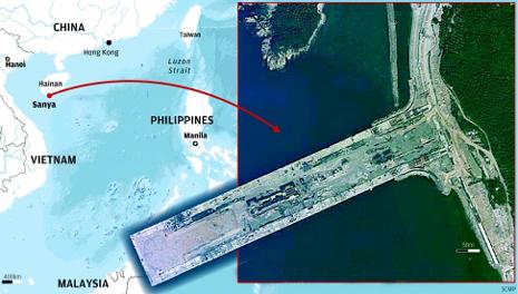 Căn cứ hải quân Tam Á mới được xây dựng bên bờ Biển Đông