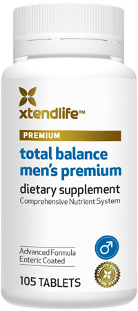 Total Balance Men's Premium - An advanced nutrient system containing 98 bio-active male-specific vitamins, minerals, nutrients, antioxidants & herbs for optimal male health.