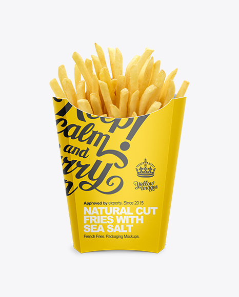 Paper French Fries Box Large Size In Box Mockups On