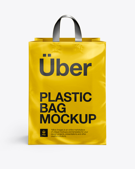 plastic pouch bag mockup is the product that will help designers to create brand presentations not spending much time on it. Plastic Shopping Bag With Loop Handles Psd Mockup Front View Mockup Psd 68459 Free Psd File Templates