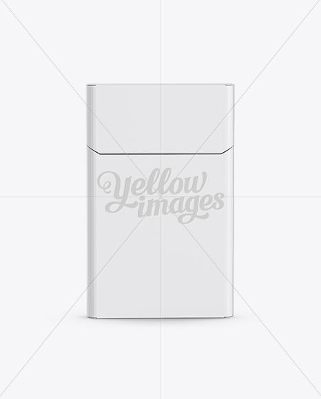 Download Flip-top Hard Pack Cigarette Case Mockup in Box Mockups on ...