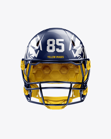 Download American Football Helmet Mockup - Front View Object Mockups