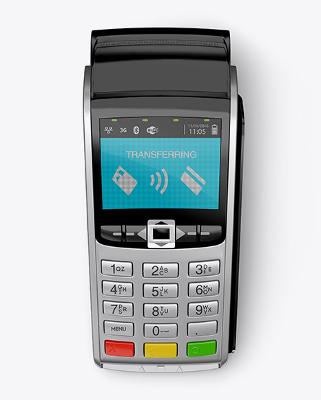 14190-preview-02-5825d809481b9 Payment Terminal w/ Label Mockup - Top View templates