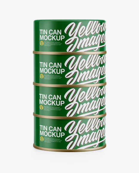 Four Cans Mockup