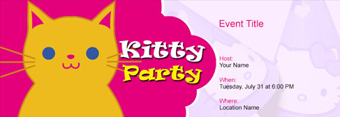 Online Kitty Party Invitation