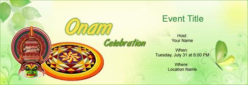 Online Onam Invitation
