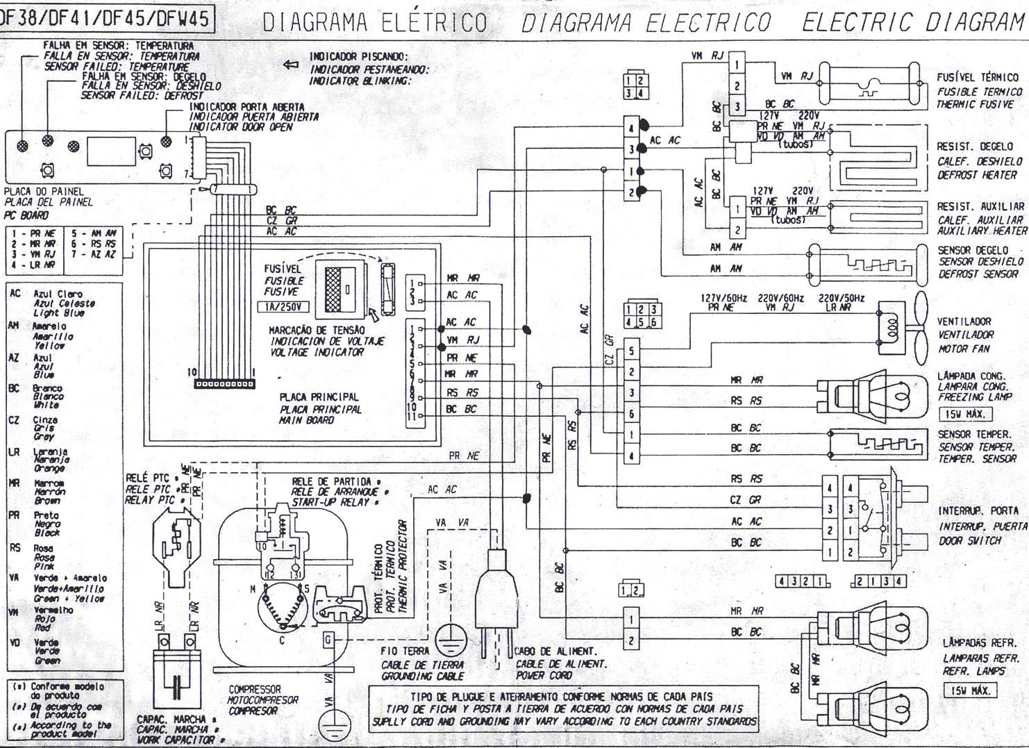 Solucionado Diagrama Electrico Heladera Elecrolux Dfw 45