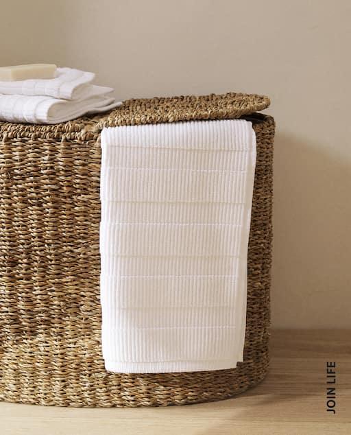 tapis coton texture rayures