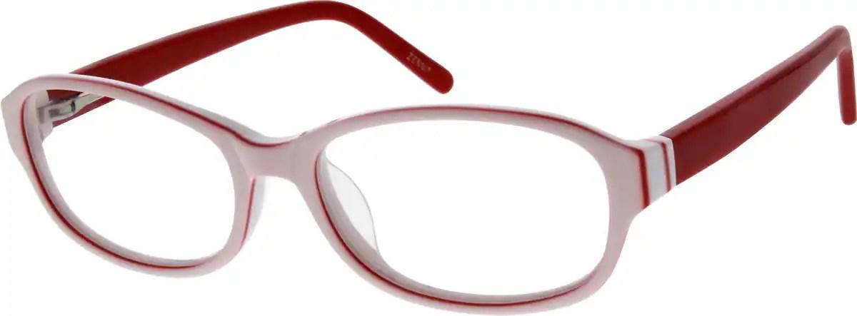 White Acetate Full Rim Frame 6066 Zenni Optical Eyeglasses