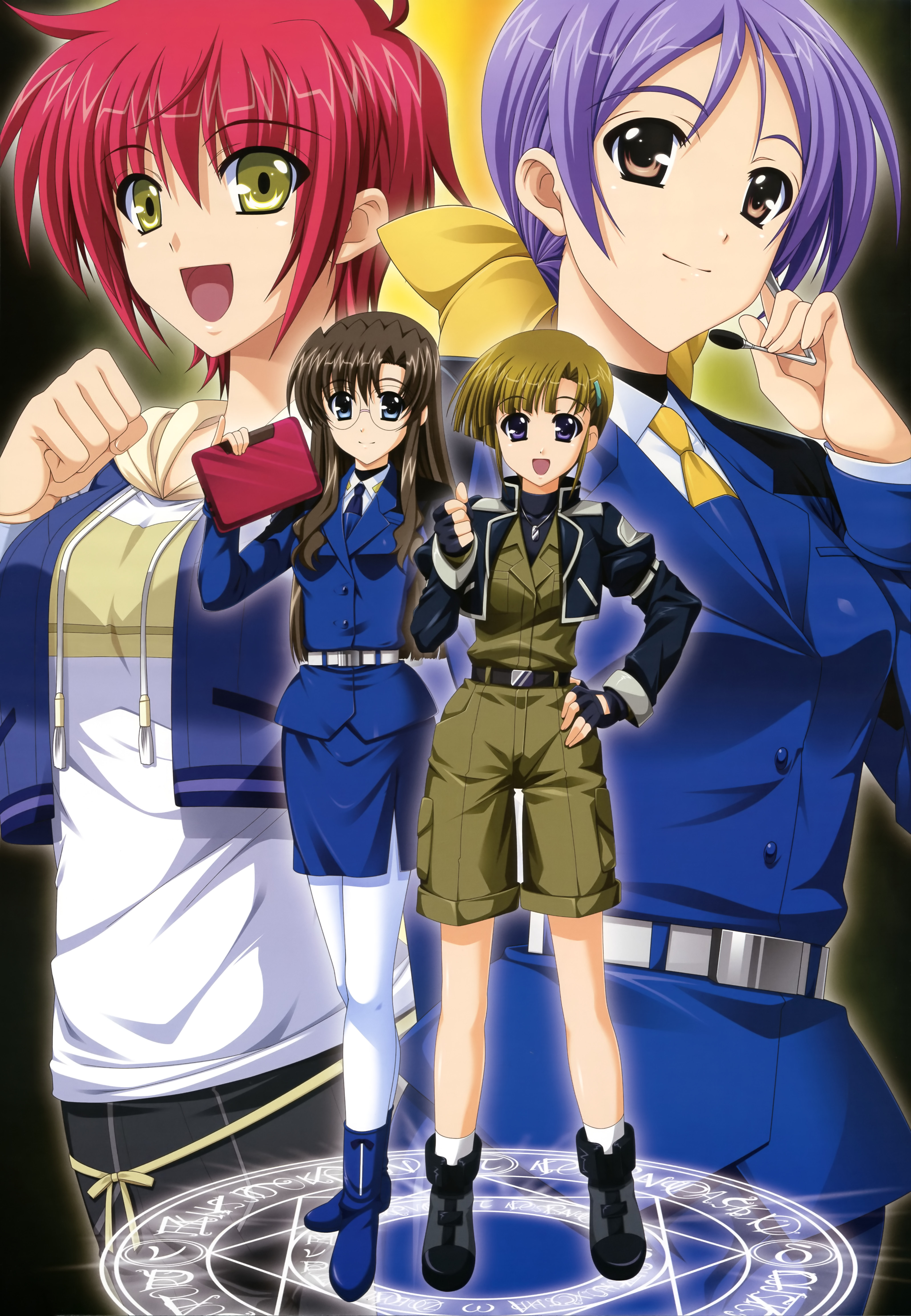 Members Strikers Girl Magical Nanoha Lyrical
