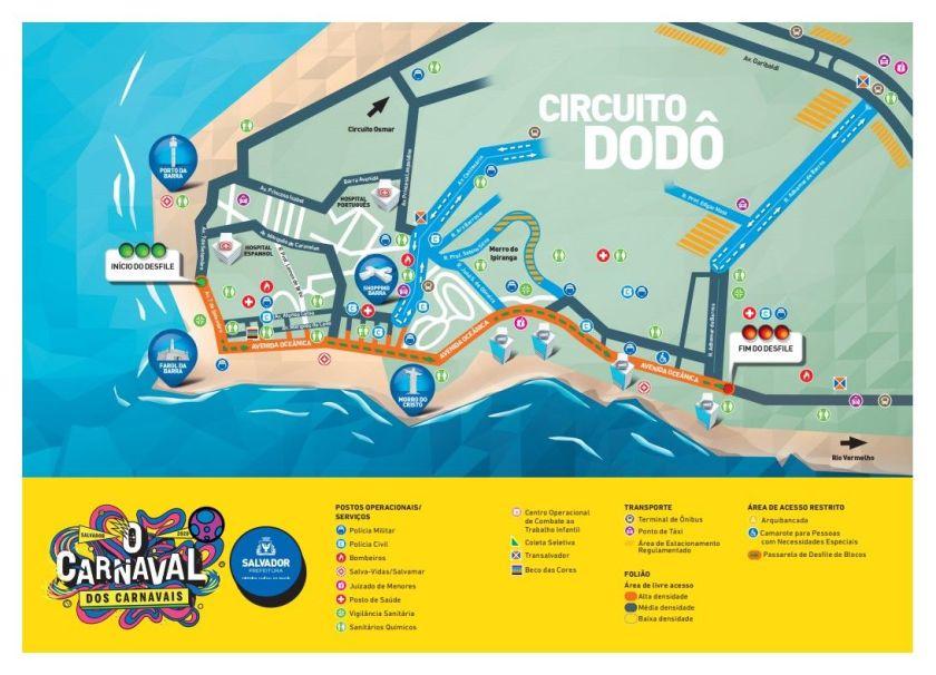 guia do folião carnaval salvador circuito dodo 2020