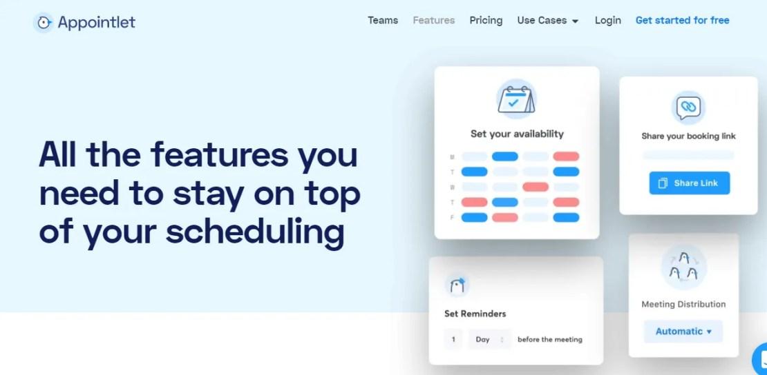 appointlet website screenshot
