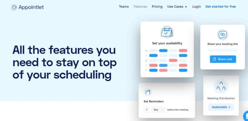 screenshot del sito web dell'appuntamento