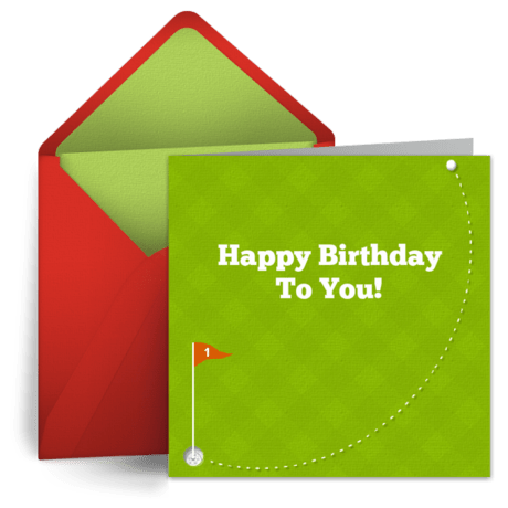 Happy Birthday Golf Free Birthday Card For Him Happy