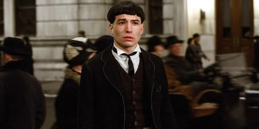Ezra Miller aka Credence Barebone.