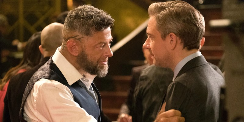 Andy Serkis and Martin Freeman in Black Panther