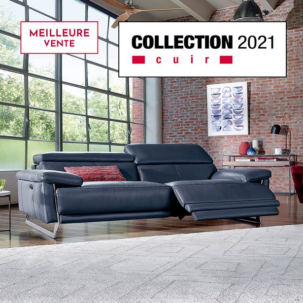 canape 3 places relaxation 100 cuir