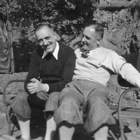 Huber, left, on vacation in Italy in 1942 with Müller, then the head of the Gestapo. They were police colleagues in Munich before the rise of the Nazis.