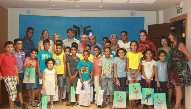 Los niños saharauis, en la sede de la FNMC.