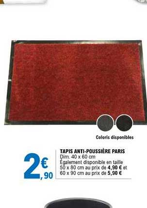 offre tapis anti poussiere paris chez e
