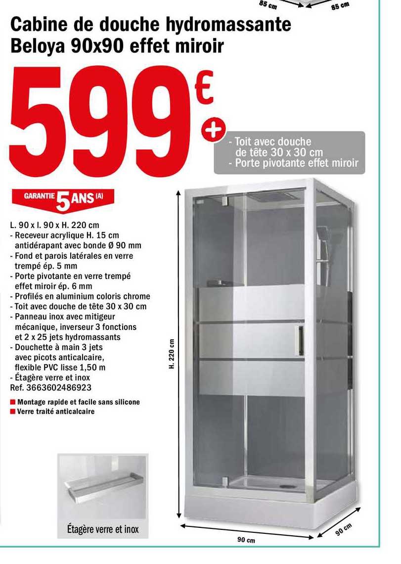 offre cabine de douche hydromassante