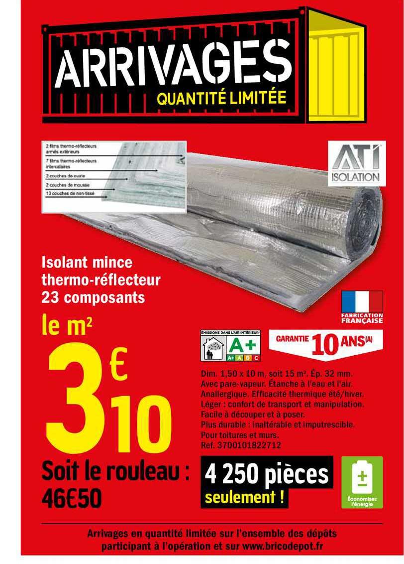 Offre Isolant Mince Thermo Reflecteur 23 Composants Chez Brico Depot