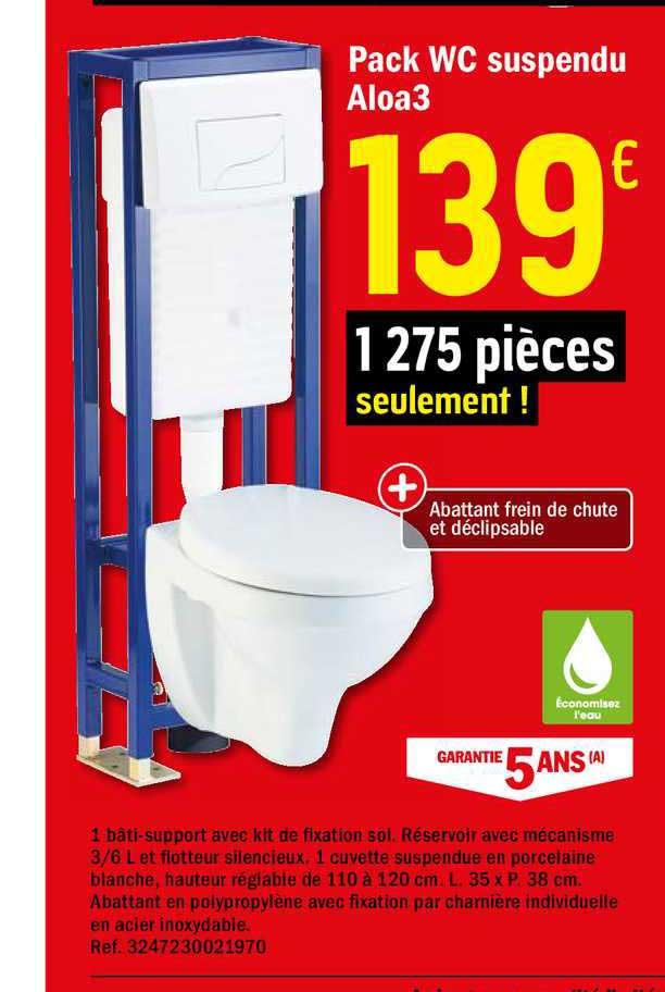 offre pack wc suspendu aloa3 chez brico