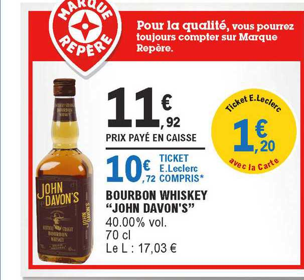 offre bourbon whiskey john davon s