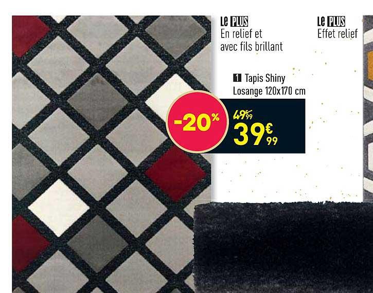 offre tapis shiny losange 120 x 170 cm