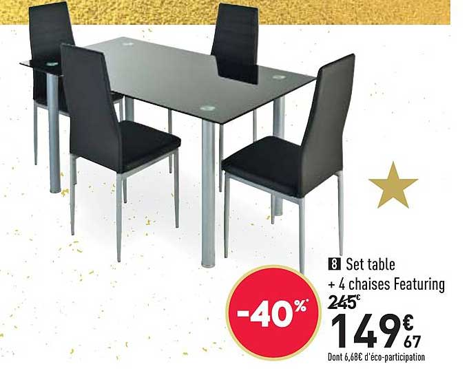 offre set table 4 chaises featuring